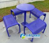 Открытый кемпинг садовая мебель ярких цветных обеденными столами