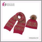 2015 spätestes Children Warm Jacquard Scarf und Hat Suit (SNLC01)