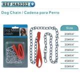 À chaînes galvanisé avec la double boucle pour l'animal familier de crabot (HA0201)