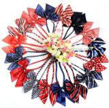 熱販売の女性カラー花のBowtiesのユニフォームのNeckerchief