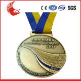 Medalla de cobre amarillo de encargo del metal al por mayor de la promoción