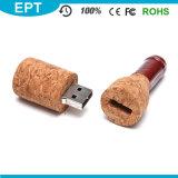적포도주 병에 의하여 형성되는 나무로 되는 USB 섬광 드라이브 (TW009)