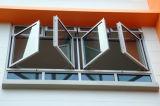 De As van de bodem voorziet de de Dubbele Deuren en Vensters van het Aluminium van het Glas van een scharnier