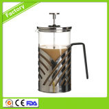 Heißer Verkaufs-Franzose-Presse-Kaffee/Tee angepasst