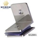 KS2001 90度アークの角度の正方形のシャワーのドアガラスクランプクリップ浴室ガラスクランプ付属品