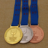 2016上の販売のカスタム金属はメダル、連続したメダル、金属のマラソンメダルを遊ばす