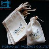 Personnalisé de haute qualité de la mousseline de coton réutilisables de petit sac avec lacet de serrage