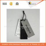Étiquette faite sur commande de coup de taille de carte de Brown de corde de chanvre pour le cadeau/vêtement/bagage