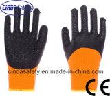Revêtement de paume en polyester jauge 13 ondulée des gants de travail