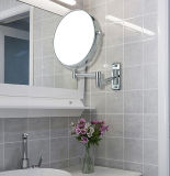 Specchio fissato al muro dello specchio nichelato di trucco di 8 pollici