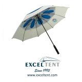 自動防風のガラス繊維広告のためのまっすぐな雨ゴルフ傘