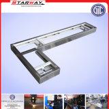Métal en plastique d'aluminium de construction de porte de Chanel de paquet de Brideg de bâti de chariot à avion
