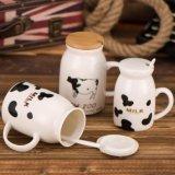 Personalizar a caneca cerâmica relativa à promoção do frasco de leite da porcelana do copo da caneca do leite