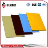 El panel compuesto de aluminio del poliester de Ideabond para el letrero (AE-33B, oro metálico)