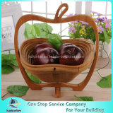 Foldableタケは果物かごの折るバスケットのピクニックバスケットのホーム装飾を制作する