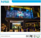 P3.75mm LEIDENE van het Glas van de Reclame van China het Binnen Transparante VideoScherm van de Muur