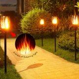 El parpadeo jardín de césped llama Lámpara LED al aire libre Jardín de Luz Solar