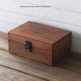 4 compartimentos individuales de madera de pino abeto Caja de té