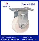 Het middelgrote Wiel van de Gietmachine van de Plicht Witte Nylon Stijve