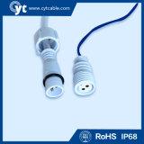 Conector LED IP68 de 6 pinos com cabo impermeável e conector macho e fêmea