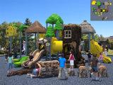 De Speelplaats van de Middelgrote Bos OpenluchtKinderen Themed van Kaiqi die met de Staven, de Dia's en meer van de Aap wordt geplaatst (KQ500090A)