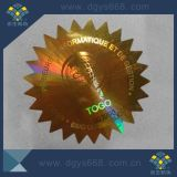 Etiqueta de venda quente do laser da cor do ouro com números seqüenciais