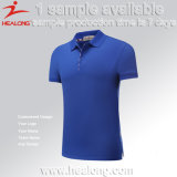 Healong 100% Cotton Fabric blank Color Polo T shirt