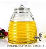 Frasco de vidro do suco do frasco do armazenamento do vinho do Sell quente com torneira