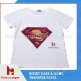 Couche en PU de haute qualité, T-shirt léger Papier de transfert de chaleur pour les T-Shirts