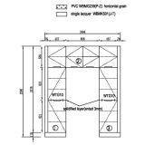 De Lak van het Project van Amerika van Oppein en Hoog polijst de Keukenkasten van pvc (OP14-PVC05)