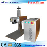 Machine élevée d'inscription de laser de code barres d'or/en métal de Qualit
