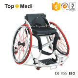 Cadeira de rodas manual de alumínio do esporte do basquetebol de Topmedi