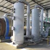 Resíduos de pirólise plástico ao sistema de petróleo bruto