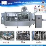 La consumición en botella/todavía riega la instalación de producción