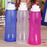 bottiglia di acqua pieghevole pieghevole di sport di corsa del silicone della prova della perdita 500ml