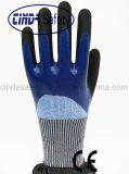 Нитрил 3/4 покрыл Sandy наружный механик безопасности, котор Анти--Отрезал 5 перчаток