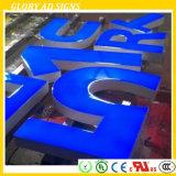 Letra de resina para rosto Lit Sinal de logotipo de epóxi