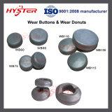 バケツのための薄板にされた摩耗ボタンの摩耗のドーナツ、ローダー、掘削機、ドラッグライン
