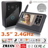 """drahtloses videotelefon der Tür-2.4GHz mit """" Innenmonitor zwei 3.5"""