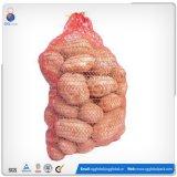 15kg weißes PET gestrickter Raschel Beutel für Kartoffeln