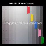 Связыватели кольца платы индекса цвета рассекателя архива индекса A4 PP
