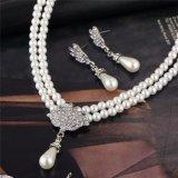 La novia encantadora simuló el conjunto cristalino de la joyería de la gota del agua de Bling de la perla