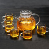 Insieme di tè stabilito di vetro di Borosilicate del regalo promozionale stabilito di vetro della teiera