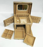 Случай хранения состава кожаный коробки ювелирных изделий Lockable