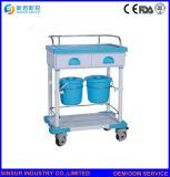 Carro/trole do tratamento médico Emergency do ABS do custo da mobília do hospital da alta qualidade