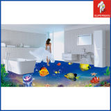 家Decoration紫外線Printing 3D Tropical Fish Floor Decals Stickers