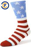Kundenspezifische Mann-Baumwoll-Polyester Elastane Form-Socken