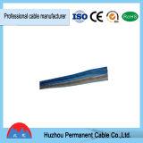 Calibre de diâmetro de fios paralelo liso do cabo 10 do altofalante do condutor de alumínio transparente do PVC