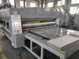 Maquinaria de impresión acanalada del rectángulo de la tinta del agua de Mluti-Clolors
