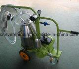 Máquina de ordenha vaca Electrical SS304 Um balde de pintura verde